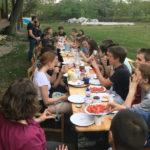 Abschlussabend beim Pfarrhaus in Göncruszka mit ungarischen Jugendlichen