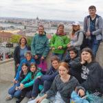 Gruppenfoto während der Rückreise in Budapest